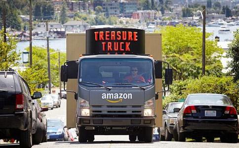 """亚马逊推出""""淘宝卡车"""" 在移动购物上创新"""