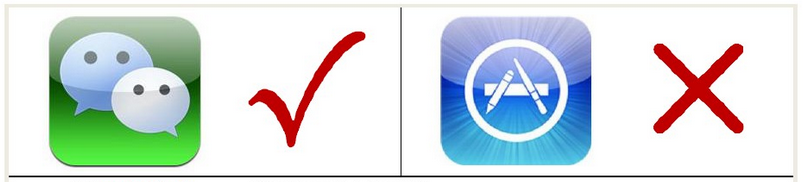 微信公众平台等于app吗?
